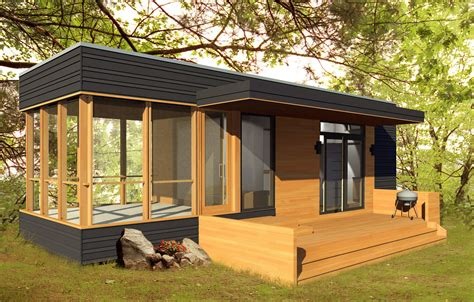 Micro Cabin Plans by Modular House Exterior Small Prefab House Design With