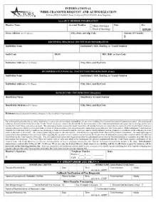 Wire Transfer Form Template by 2009 Form Actors Fcu International Wire Transfer Request