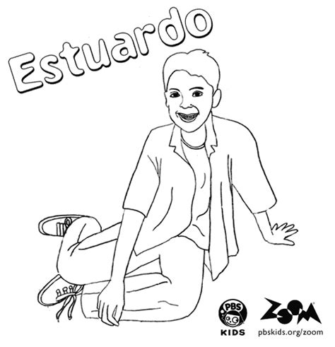 zoom coloring page zoom printables estuardo s coloring page pbs kids