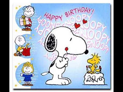 imagenes de feliz cumpleaños amiga snoopy snoopy youtube