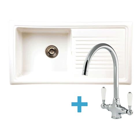 kitchen sinks taps reginox rl304cw ceramic sink elbe tap pack kitchen