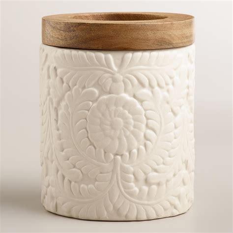 Home Decor Furniture Online Shopping matte ivory floral utensil crock world market