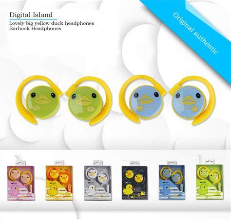 Headset Earphone Headfree Karakter Disney Duck 1 yellow duck hanging 3 5mm stereo headset color duck universal ear