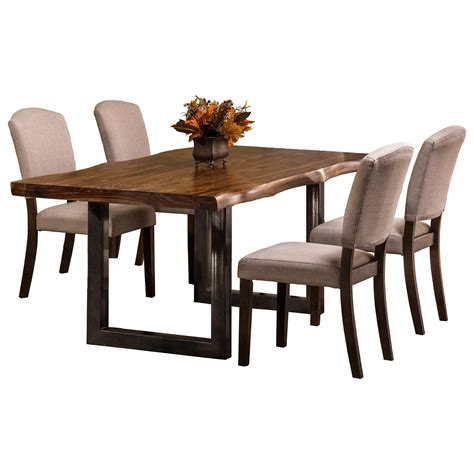 Dining Table Items Hillsdale Emerson Sheesham Wood Rectangular Dining Table Olinde S Furniture Dining