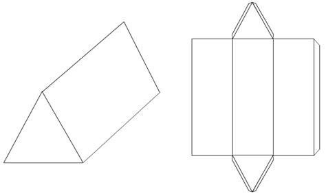 net pattern of triangular prism developments nets triangulation