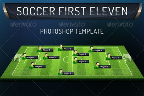 templates photoshop soccer first eleven soccer photoshop template by grasycho on