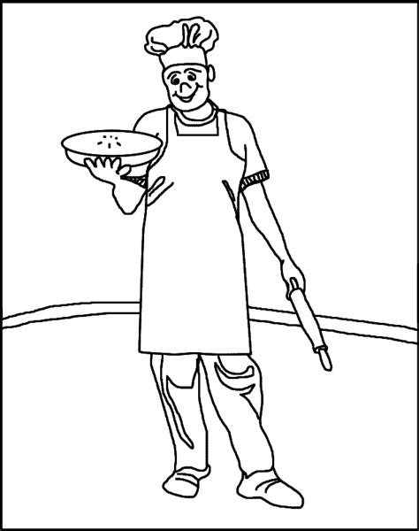 baker of pies free coloring pages for kids printable