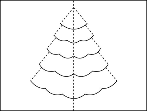 How To Make A Christmas Tree Pop Up Card Tree Template For Cards