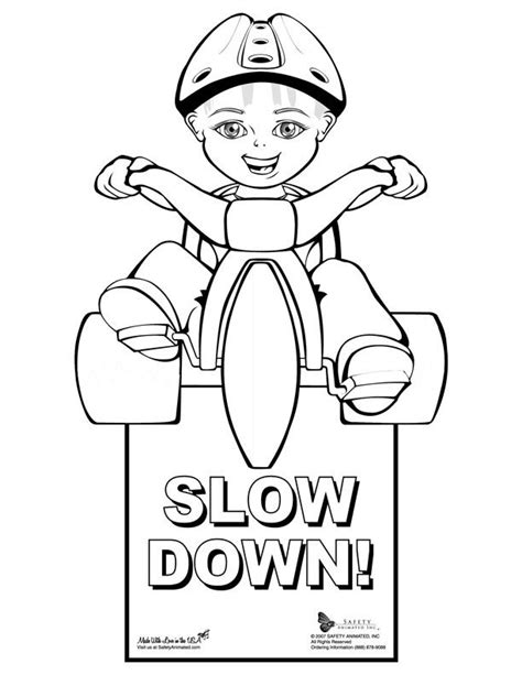 safety signs coloring pages coloring home