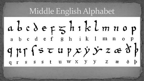 Middle Letter Y middle period