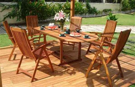 wood patio furniture 6 different types of teak wood patio furniture furniture