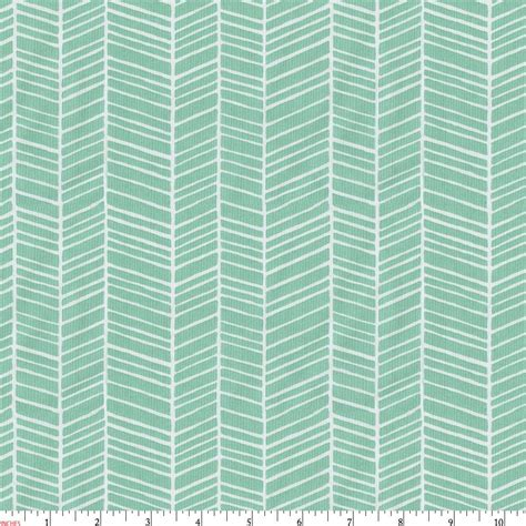 bedding fabric mint herringbone fabric by the yard green fabric