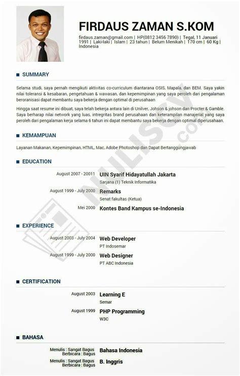 Membuat Cv Yang Baik Dan Benar Dalam Bahasa Inggris | www penuliscvprofesional com contoh curriculum vitae cv