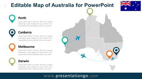 Australia Editable PowerPoint Map   PresentationGO.com
