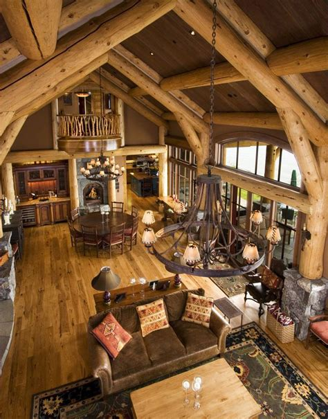 Log Home Interior Pictures by Rustic Design Ideas Canadian Log Homes
