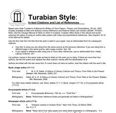 Turabian Style Essay Exle by Turbian Writing Style