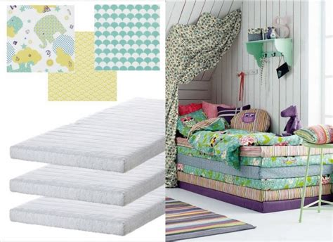 Superbe Idee Deco Chambre Enfant #1: idee-deco-DIY-chambre-enfant-matelas-empiles.jpg
