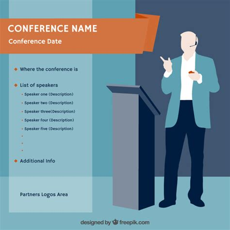 Conference Poster Template Vector Free Download Meeting Poster Template