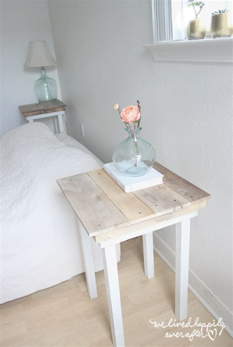 diy bedroom table we lived happily ever after diy pallet nightstands with