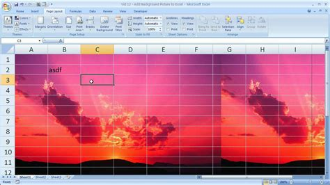 excel tips  add background pictures  excel
