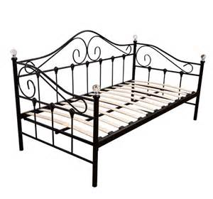 Metal Daybed Frame Florence Metal Day Bed Daybed Guest Bed Metal Frame With Finials Black Ebay