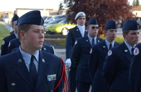 air force rotc service dress uniform ben eielson rotc cadets give salute to sept 11 gt pacific