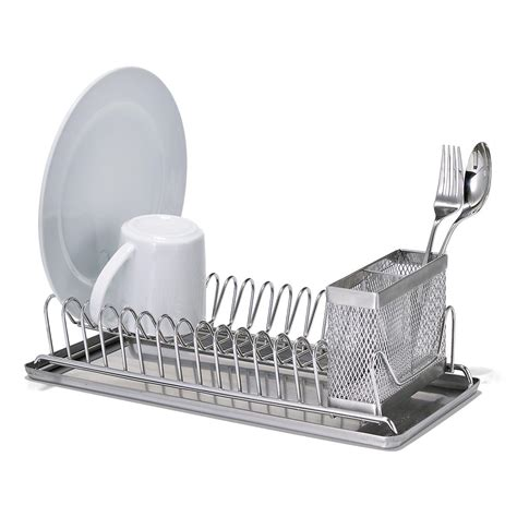 dish rack polder stainless steel compact dish rack the container store