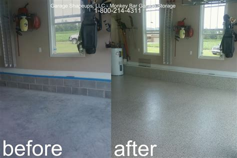 Garage Floor Paint Before And After Chattanooga Garage Flooring Choices And Options