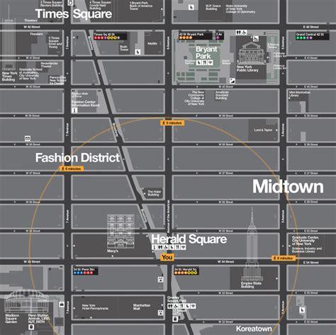 designboom pentagram walknyc pedestrian maps by the pentacitygroup