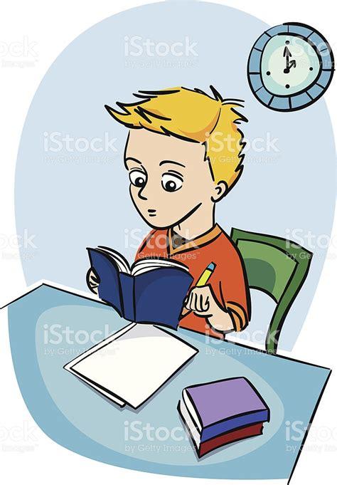 imagenes comicas de niños estudiando ni 241 o estudiando illustracion libre de derechos 139983315