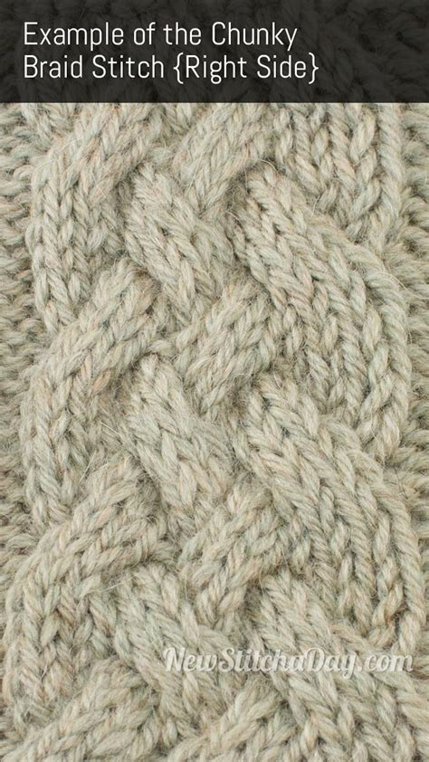 Chunky Braid Cable Knitting Stitch New Stitch A Day