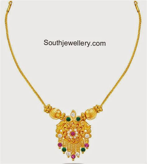 gold necklace designs with light weight gold necklace jewellery designs