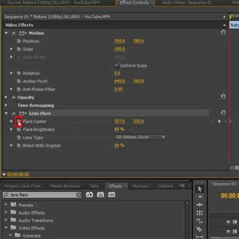 adobe premiere pro lighting effects how to use the lens flare effect in adobe premiere pro cs6