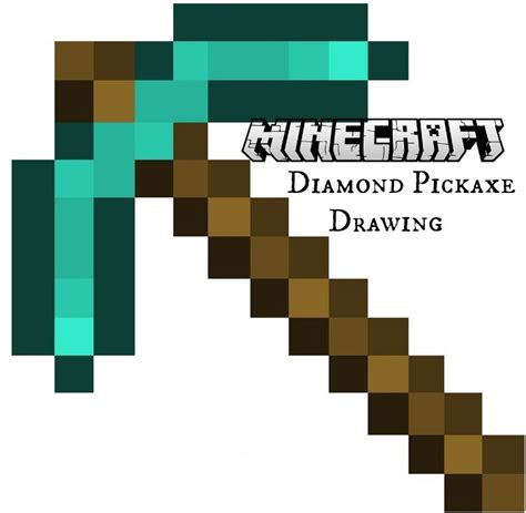 How To Make A Minecraft Pickaxe Out Of Paper - minecraft pickaxe drawing