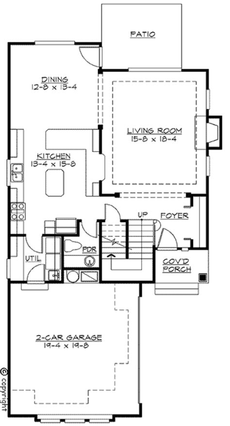 corner lot floor plans northwest house plan for narrow corner lot 2300jd 2nd