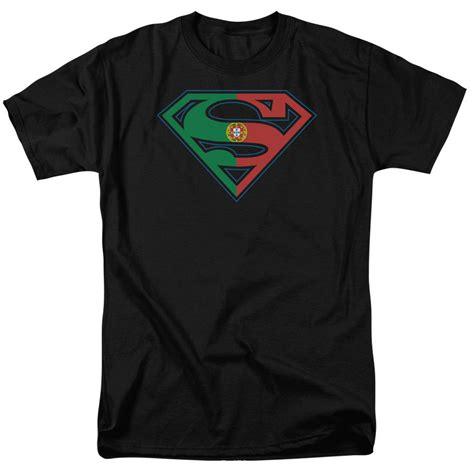 Tshirt Superman Logo Hitam licensed superman portugal portuguese flag shield logo