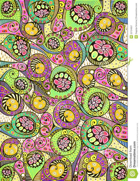pattern nature colorful stylized colorful natural pattern royalty free stock
