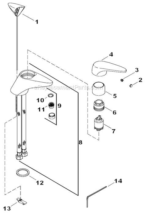 faucet parts c 106503 150455 kohler k t14412 4 parts