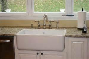 Kohler White Kitchen Faucet Golden Boys And Me Diy Shaw S Farmhouse Sink Installation