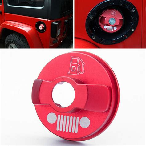 Tank Cover Jeep Wrangler Doff high quality aluminium alloy base gas fuel tank cap 2 4 door cover fit for jeep