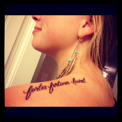 fortuna tattoo quot fortes fortuna iuvat quot fortune favors the brave tattoos