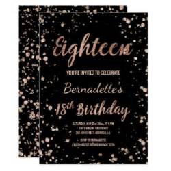 18th birthday invitations amp announcements zazzle co uk