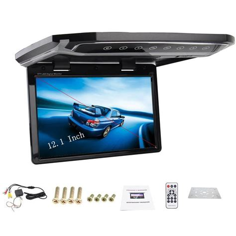 Fernseher Auto by 12 1 Inch Car Roof Mounted Monitor Flip Down Tft Lcd