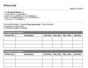 Create A Price List Template Search Results For To Do Lists Templates Printable