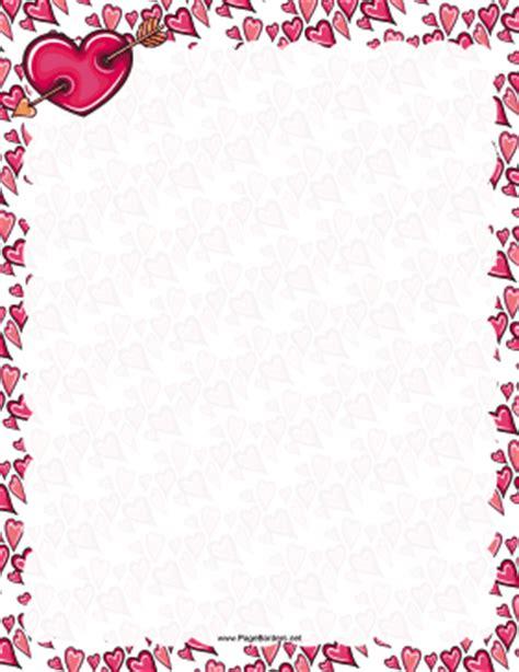 free printable valentine stationary borders valentine hearts border