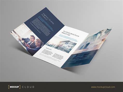 tri fold tri fold brochure mock up product mockups creative market