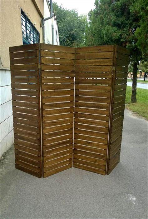 Pallet Room Divider Upcycled Pallet Room Divider
