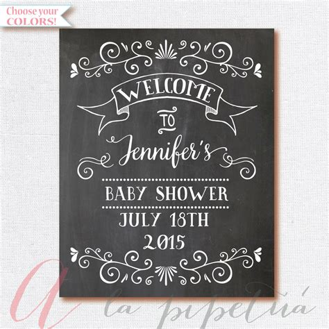 Baby Shower Signs by Lighting
