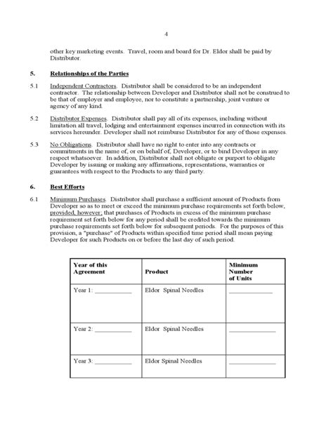 product distribution agreement template exclusive distribution agreement free