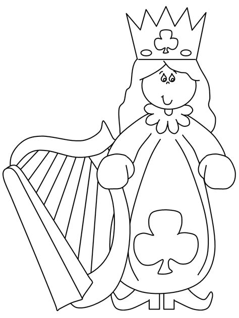 free coloring pages of queen girls